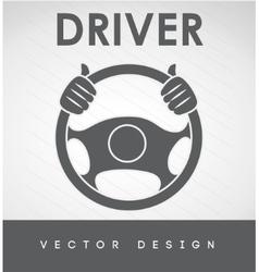 Driver car design vector