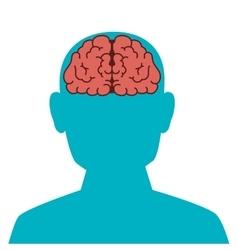 Face brain organ human vector
