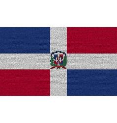 Flags dominican republic on denim texture vector