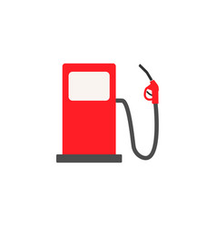 Gas station solid icon fuel and refill sign vector