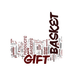 Gift basket surprise text background word cloud vector