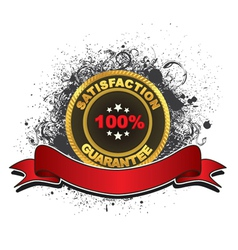 gold label with grunge vector image