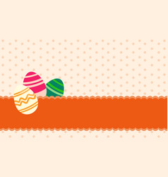 Greeting card of easter egg theme vector