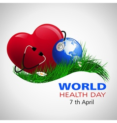 halth day world vector image vector image