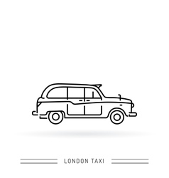 London taxi black cab vector image