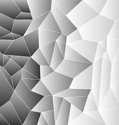 Mosaic tiles in greys vector image