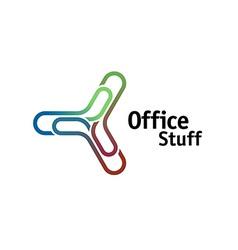 Office chancellery logo vector image vector image