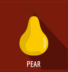 pear icon flat style vector image