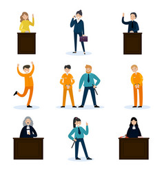 people in court set vector image
