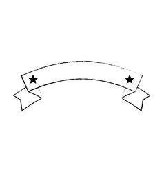 ribbon with stars frame vector image