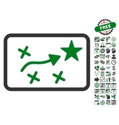 Route plan icon with bonus vector