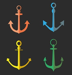 Set of anchor symbols or logo vector image vector image