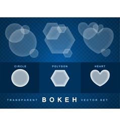 Set of transparent bokeh vector image vector image