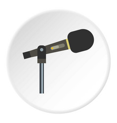 sound recording equipment icon circle vector image