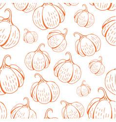 umpkin pattern on white vector image