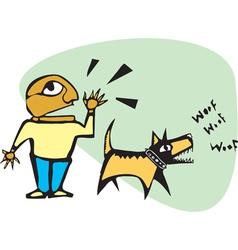 Yelling Barking vector image