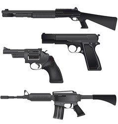 Gun weapon crime war isolate vector