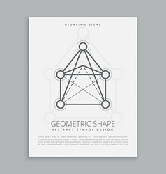 Mystical geometric shape vector