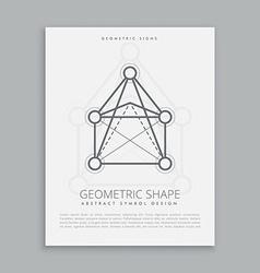 Mystical geometric shape vector