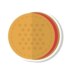 Delicious sweet cookie icon vector