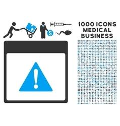 Error calendar page icon with 1000 medical vector