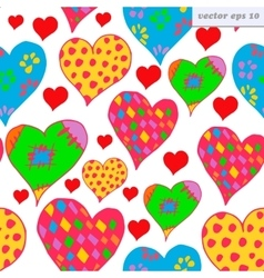 Different hearts vector