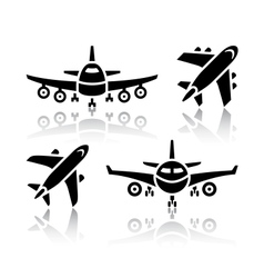 Set of transport icons - plane vector