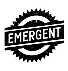 Emergent rubber stamp vector