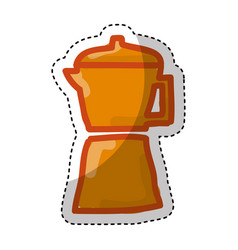 Kettle silhouette isolated icon vector