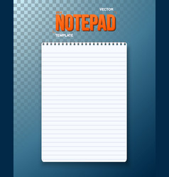 Notepad notebook template vector