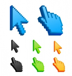 Cursor icons vector