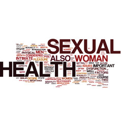 The importance of sexual health in men and women vector