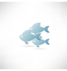 Fish eco Icon vector image