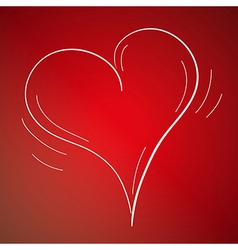 sketch of the heart vector image