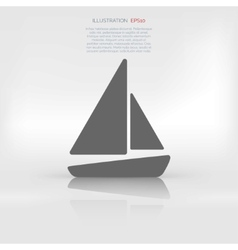Sailboat ship icon vector