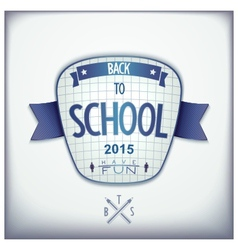 Back to school 3d badge vector