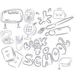 School collection vector