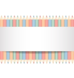 Color pencils isolated vector