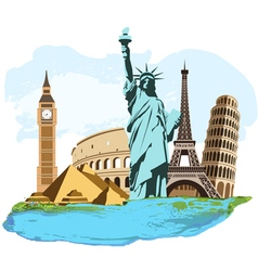 Travel composition vector image
