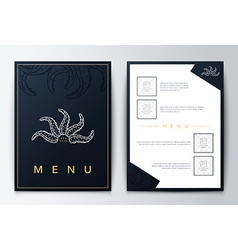 Design menu brochure culinary menu menu background vector