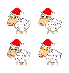 A funny Christmas sheep vector image vector image