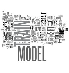 A train set for christmas text word cloud concept vector
