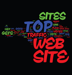 Are top web sites good for everybody text vector