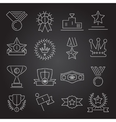 Award icons set outline vector image vector image