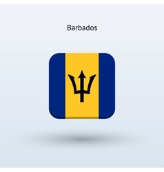 Barbados flag icon vector