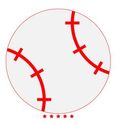 baseball ball icon color fill style vector image vector image