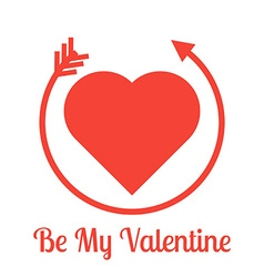 Be my Valentine lettering vector image