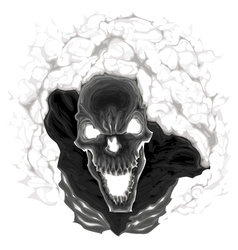 Black skeleton vector