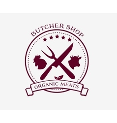 Butcher Shop Design Elements Labels Badges Logo vector image vector image