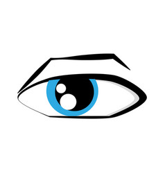 Cartoon eyes comic expression vector